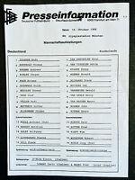 WM-Qualifikation 19.10.1988 Deutschland - Niederlande, Presseinformation München