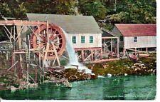 Northern California Waterwheel Postcard c1908