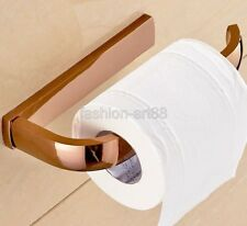 Wall Mount Rose Gold Copper Toilet Paper Roll Holder Bathroom Accessory fba872