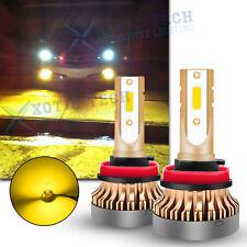 For Acura TSX TL ILX MDX RDX RL RSX ZDX 3000K LED Golden Yellow Fog Light Bulbs