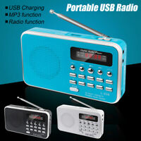 Mini Portable LCD Digital FM Radio Speaker USB SD TF Card MP3 Speaker Player .