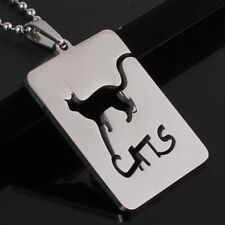 Cats Silhouette Lovers Abyssinian Persian Bengal Kittens Charm Pendant Necklace