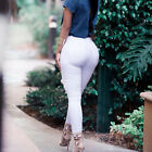 femme taille haute Leggings maigre crayon pantalon solide Jeans extensible