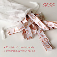 Hen Party Favour Wristbands - Team Bride - Pack of 10 ROSE GOLD
