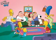 Simpsons Family Guy Poster Print A3 260gsm