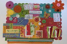 K&Co Bright Floral Custom Mini Book Chipboard Album Kit Scrapbook Valentines