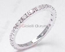 Anello fedina eternity oro bianco diamanti VS1G ct.0,42