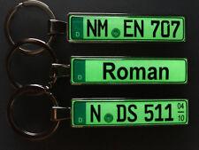 Schlüsselanhänger leuchtet in der Dunkelheit mit KFZ-Kennzeichen für Ihr Auto