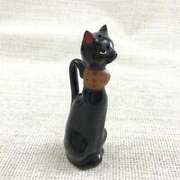 Antico Gatto Nero Ceramiche Pepe Pentola Shaker Pepiera Figura Novità Ornamento
