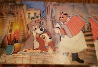 Lady and the Tramp puzzle Springbok 100 Piece Jigsaw  vintage Disney Complete
