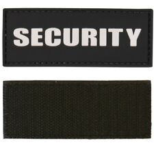 TACTICAL MORALE SECURITY PATCH 9cmx 3.5cm HOOK & LOOP PVC BADGE ID