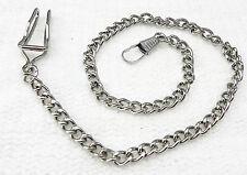 chaine pour montre à gousset argenté gris