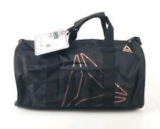 "$40 Reebok Plyo Gym Duffle Bag Small 22L 9""x18""x9.5"" Black Water Resistant New"