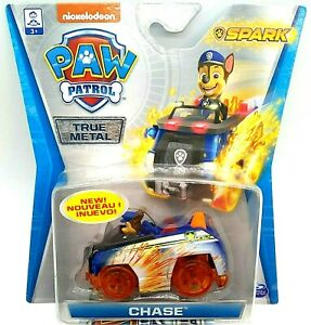 PAW PATROL CHASE SPARK POLICE / Security True Metal CAR Vehicle Spin Master