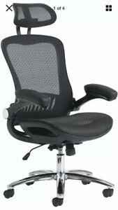 Brand New Ergo Deluxe Mesh Task Office Chair Lumber Support Pivot Arms