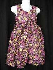 BNWT Girls Sz 12 Bubble Hem Sleeveless Cute Daisy Print Fully Lined Party Dress