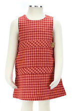 JACADI Girl's Annoter Pink Orange and Red Plaid Dress SZ 6 Years NWT $72