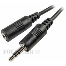 5 Pack Lot - 10ft 3.5mm Stereo Audio Extension Cable Male to Female M/F MP3 1/8""