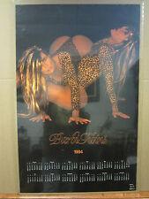 vintage Barbi twins Hot Girls calendar man Cave car garage poster 1994 2462