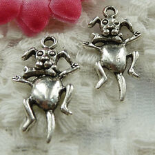 Free Ship 210 pieces Antique silver dog charms 26x15mm #1464