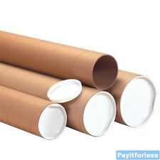 "3"" x 60""  Kraft Heavy Duty Shipping Mailer Mailing Storage Postal Tubes 24 Pc"