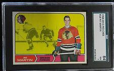 1968 O PEE CHEE HOCKEY OPC #18 PIT MARTIN  NM 7  - SGC 84