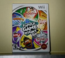 Hasbro Family Game Night 2 (Nintendo Wii, 2009) Tested w/Guides