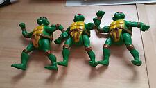 Teenage Mutant Ninja Turtles Action Figure 2005 McDonald 4.5 inch foot action x3