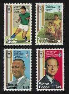 Sierra Leone Football Duke of Edinburgh Award 4v 1981 MNH SG#678-681