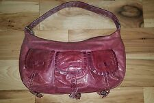 Braccialini brown Cognac pockets Hobo Bag USED TWICE purse tote PERFECT!