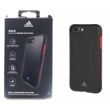 Adidas Solo Back Case  Cover for iPhone 8 Plus 7 Plus,6s Plus,6+. Black Red OP