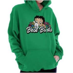 Betty Boop Pudgy Cute Dog Best Buds Womens Hooded Sweatshirts Hoodies