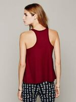 New Free People Womens Ribbed La Nite Tank Top Loose Boho Cotton Cami $20