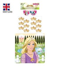 14Pc STICK THE CROWN ON THE PRINCESS GAME Kids Birthday Party Pin Activity UK