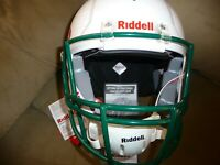 NWT 2018 Riddell Victor air inflate Youth Football Helmet WHT/KLY GRN Size L/XL