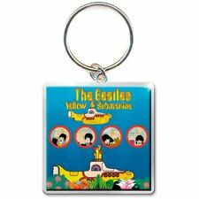 THE BEATLEs  metal keyring YELLOW SUBMARINE square