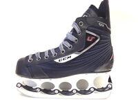 CCM U+ 03 t-blade Eishockey Schlittschuhe  - Senior Gr. 44 - Ice Skate t blade