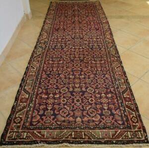 3'5 x 10'9 All Over Design Semi Antique Handmade Oriental Wool Runner Rug 3 x 11