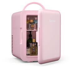 4 Liter Mini Fridge Portable Cooler Warmer Makeup Skincare Refrigerator Pink