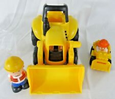 Little People Wheelies Construction Tractor and Larger Tractor Lights and Sounds