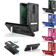 FOR NOKIA 3.1 PLUS / 3.1C / 3.1A RUGGED SHOCKPROOF MECH STAND CASE COVER+STYLUS