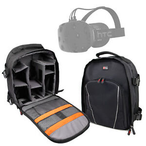 Black Customizable Backpack with Raincover for HTC Vive Virtual Reality Headset