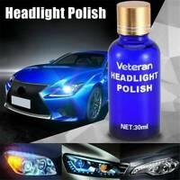 30ML Hardness Auto Car Headlight Len Restorer Repair Liquid Polish Cleaning UK
