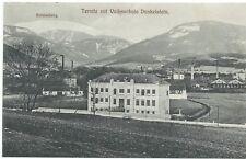 NÖ - AK Ternitz mit Volksschule Dunkelstein, Verlagsdatierung 1909