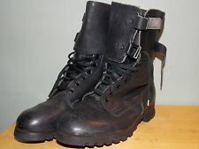 70's Black Leather Boots with Triple Toe Rivet in Sole Est. Men's Size 7 D -used