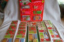 376 Vintage Christmas Gift Tags Cards Seals-Original Package-Some Loose-Unused