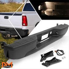 For 99-07 Silverado/Sierra Direct Replacement Fleetside Rear Step Bumper Black