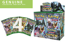 4 Booster Packs XY10 Fates Collide Pokemon 10-Cards English Genuine Sealed