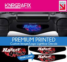 KNR9199 Custom Printed Image or Logo Dualshock 4 Lightbar Decal Sticker PS4 DS4