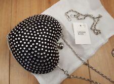 BNWT heart shaped black diamante evening bag